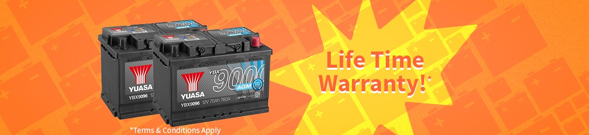 Life time warranty image - Yuasa Battery Service Sutton in Ashfield